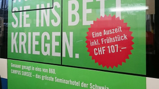 Traffic Board Werbung Campus Sursee