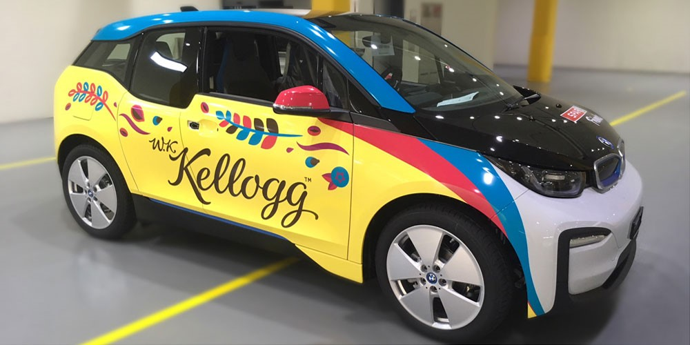 BMW i3 Car Wrapping Kellogg's